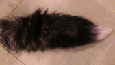 "Dyed Pink Silver Fox Tail with Tip JUMBO 19"" -22"""