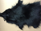 Dyed Black Raccoon Skin Half Pelt