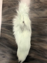 Dyed Light Mint Platinum Fox Tail