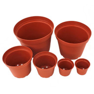 "Plastic Terracotta Pot (multiple sizes) w/ Drainage Hole 2"" - 6"""
