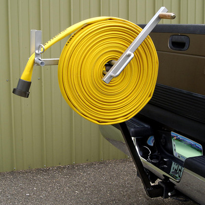 """The MC 40 quickly rolls 100' of 1 1/2"""" hose all day long. Can you do that?"""