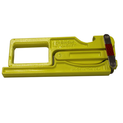 High Visibility hose clamp in compact form