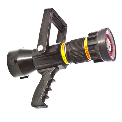 "80 - 200 GPM 2 1/2"" automatic nozzle with pistol grip"