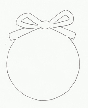 CHRISTMAS ORNAMENT WITH BOW