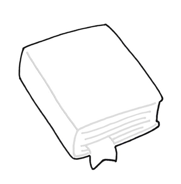 CLOSED BOOK WITH MARKER