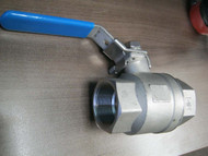 BALL VALVE   .75 SS  1000 WOG TH.