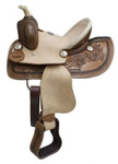"""#396-3510  Western Roper Style Saddle 10"""" seat"""