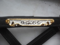 #400-5   Performance/Stock Show Halter-Silver with Gold Edge