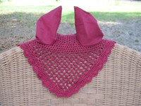 #345  Crocheted Ear Bonnets