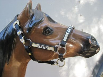 #400   Performance/Stock Show Halter-Black/Silver w/touch of Gold