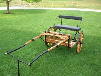 #189  Easy Entry Wood Cart with Wood Shaft and Wood Wheels