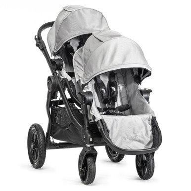 Baby Jogger City Select Double Stroller 2014 in Silver/Black Frame