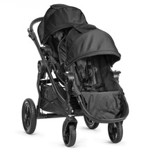 Baby Jogger City Select Double Stroller 2016 in Black/Black Frame - SHIPS NOW