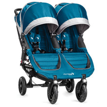 Baby Jogger City Mini GT Double Stroller 2017 in Teal/Gray - SHIPS NOW