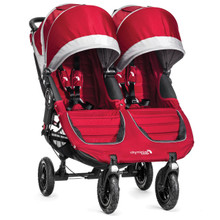 Baby Jogger City Mini GT Double Stroller 2017 in Crimson/Gray - SHIPS NOW