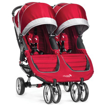 City Mini Double Stroller by Baby Jogger 2014 in Crimson/Grey