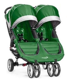 City Mini Double Stroller by Baby Jogger 2017 in Evergreen/Grey- SHIPS NOW