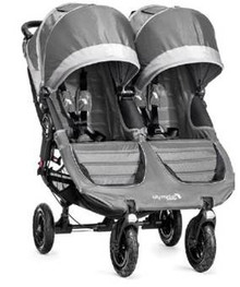 Baby Jogger City Mini GT Double Stroller 2017 in Steel Gray - SHIPS MID MAY