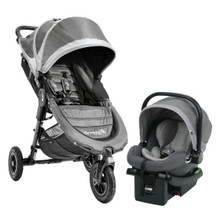 Baby Jogger 2017 City Mini GT Travel System in Steel Gray (Stroller, Car Seat and Car Seat Adapter - SHIPS NOW