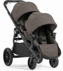 Baby Jogger City Select LUX Double Stroller 2017 in Taupe Brown - Ships Now!!!
