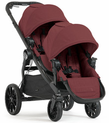 Baby Jogger City Select LUX Double Stroller 2017 in Port Maroon - Ships Now!!!