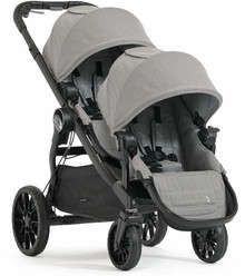 Baby Jogger City Select LUX Double Stroller 2017 in Slate Grey - Ships  Now!!!
