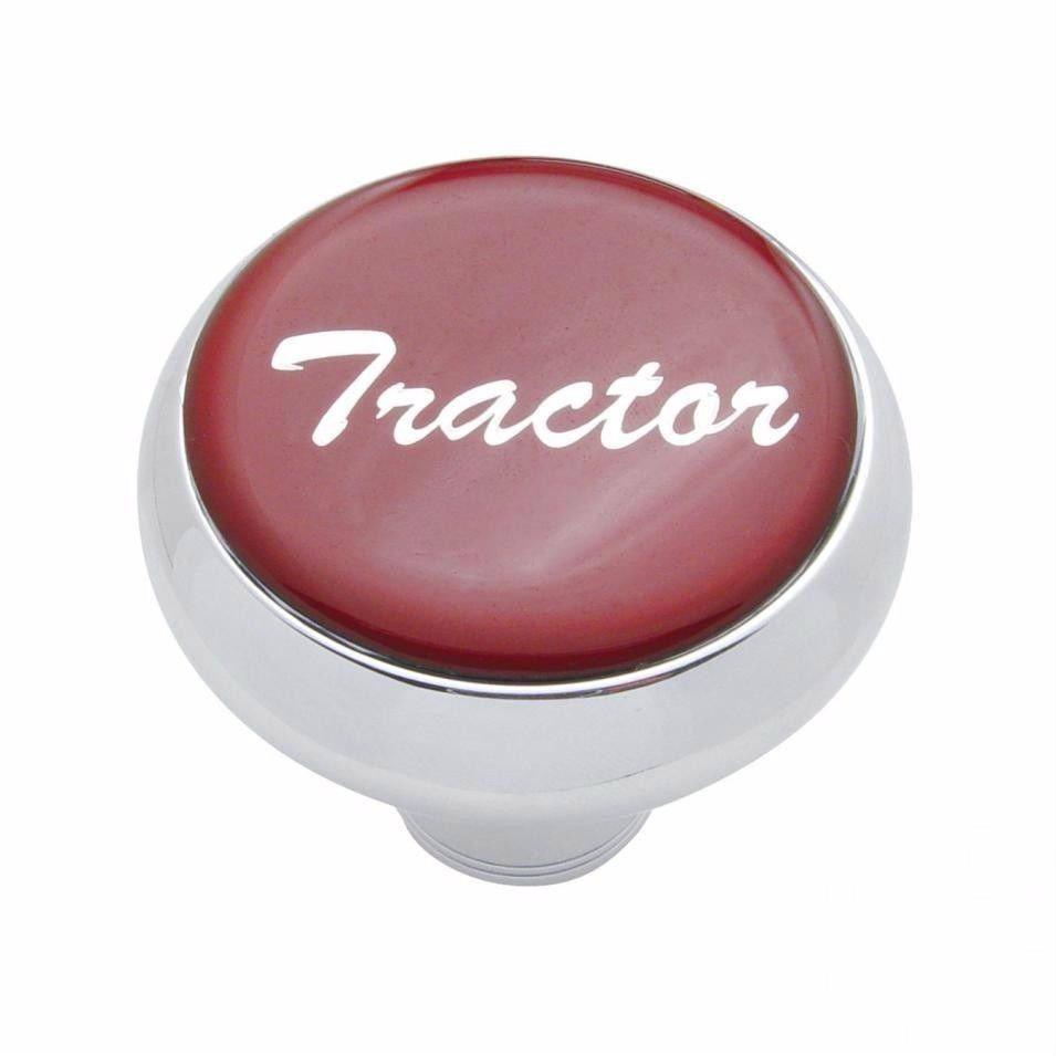 Deluxe knob tractor Red glossy sticker screw-on air valve Freightliner Peterbilt