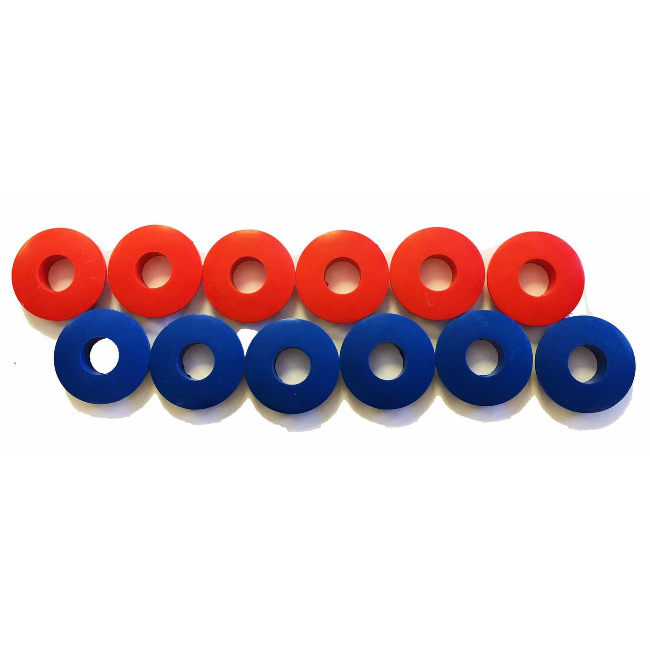 Poly Glad Hand Seals Red and Blue Kit for Trucks and Trailers, Set of 12