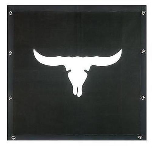 Cattle Skull Bug Screen - Peterbilt 377,378,379 (Regular Hood)