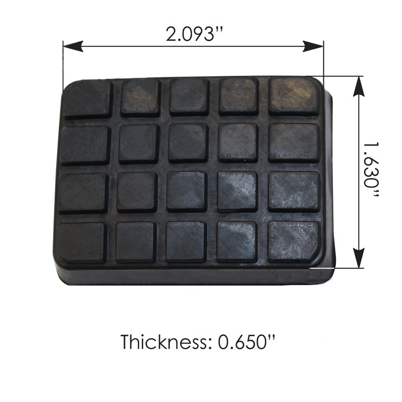 Freightliner Pedal Pad Rubber Replacement Pad  #1218747000