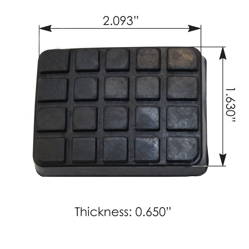 Freightliner Pedal Pad Rubber Replacement Pads (PAIR)