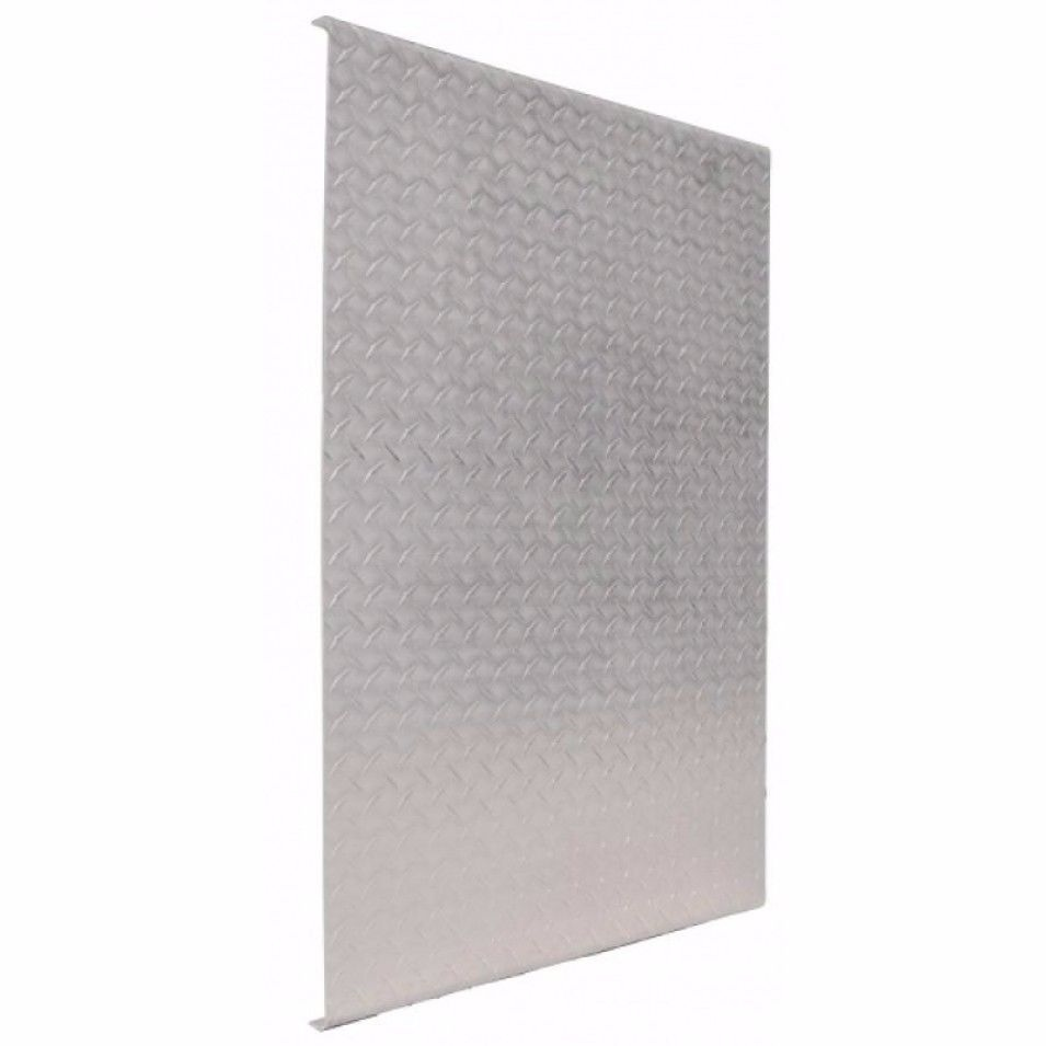 """24"""" x 34 1/2"""" Aluminum Diamond Deck Plate with Reinforced Beams"""