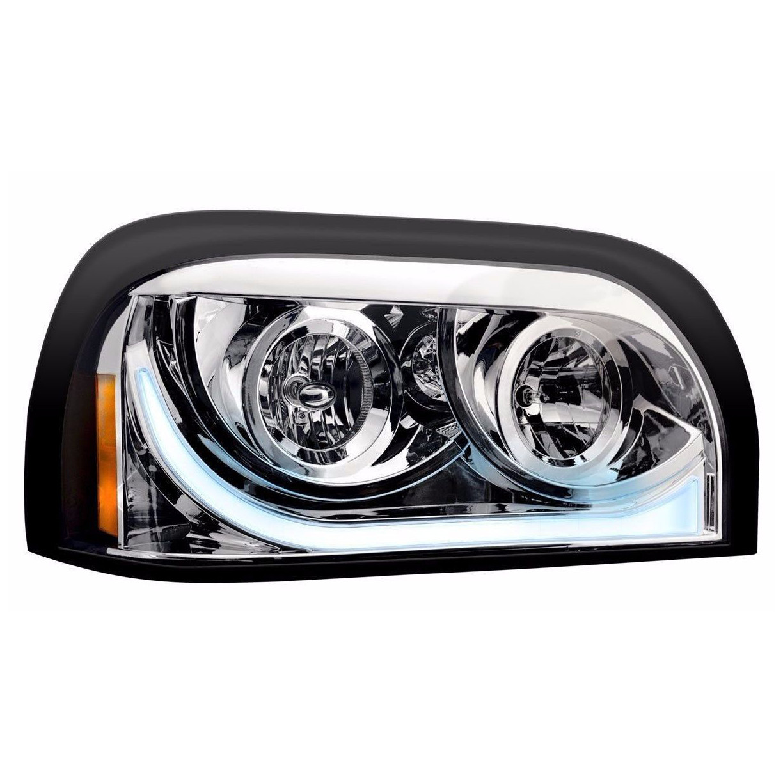 Freightliner Century LED Marker/Turn Chrome Headlight Assembly - Passenger Side