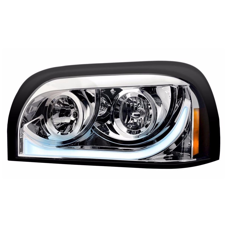 Freightliner Century LED Marker/Turn Chrome Headlight Assembly - Driver Side