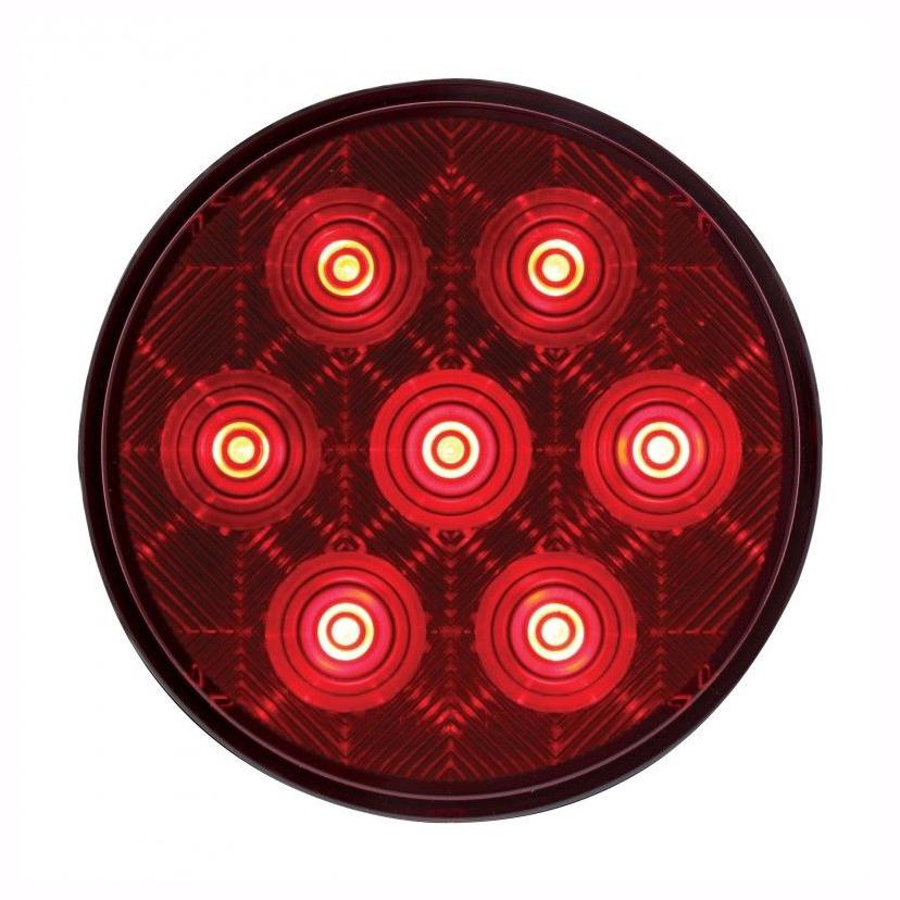 "LED 4"" Competition Series"" S/T/T Light 7 LED  -  FREIGHTLINER  PETERBILT   KW"
