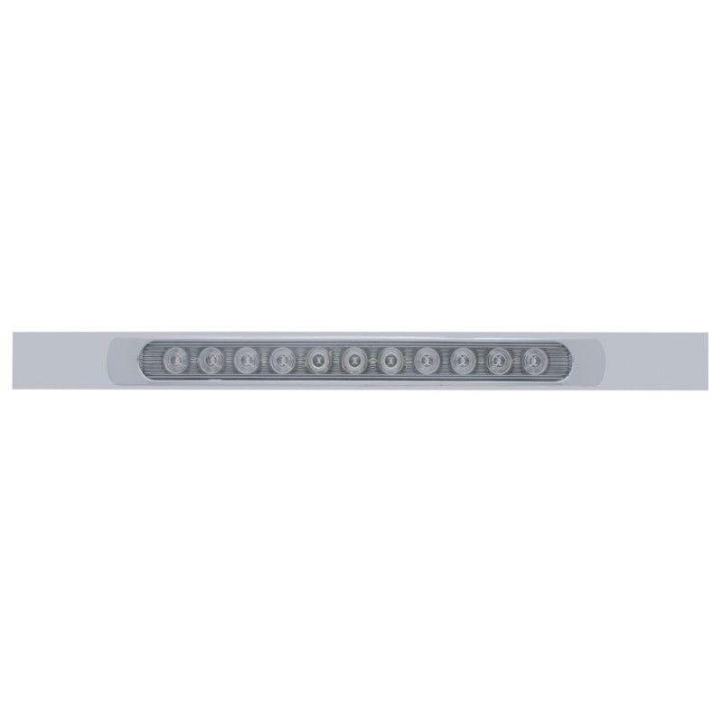 "11 LED (17"") Stop, Turn & Tail Light Bar w/ Bezel - Red LED w/ Clear Lens"