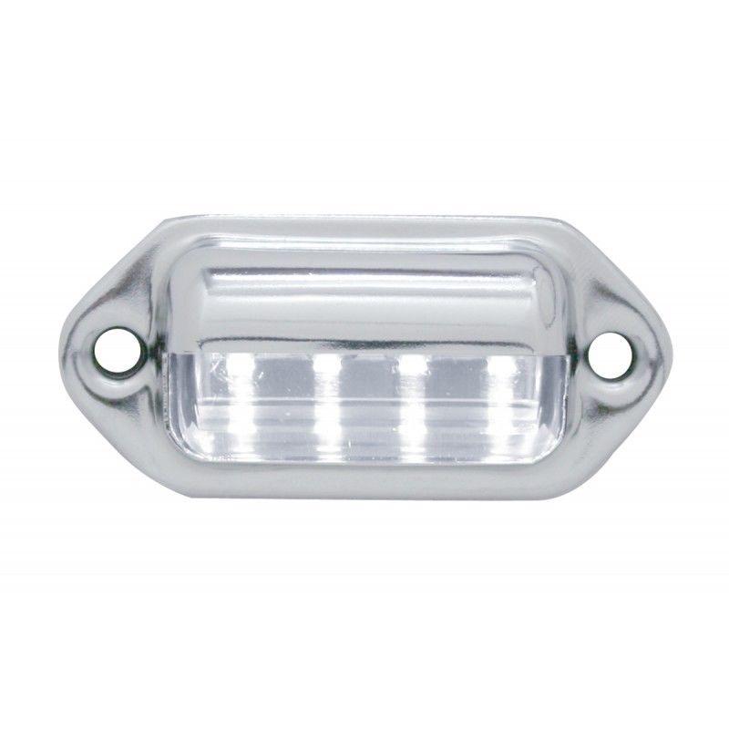 License Plate Light (White) 4 LED - Metal Housing - Truck RV ATV Semi Trailer