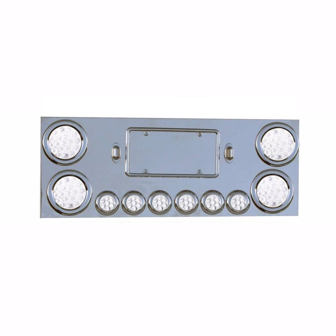 Rear Center Panel Stainless Steel with Dual Function, 40 LED Lights for Semi Truck