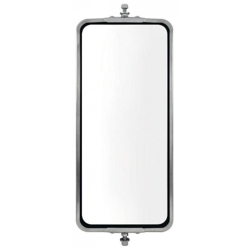 "Stainless Steel (HEATED) West Coast Mirror - 7"" x 16"""