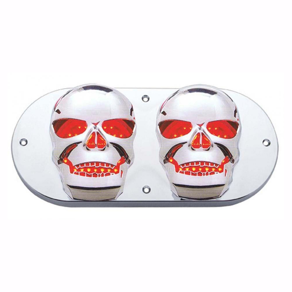 "Skull Bezel for 6"" Oval Tail Light - Kenworth Peterbilt & All Semi Trucks"