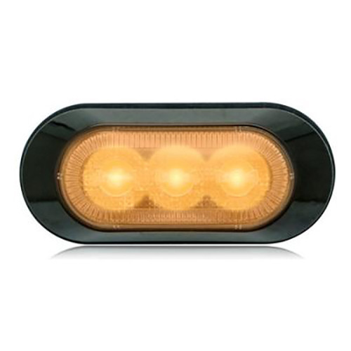 Amber LED Clear Lens (3 LED) Strobe Warning Light,  Peterbilt, Freightliner, Kenworth