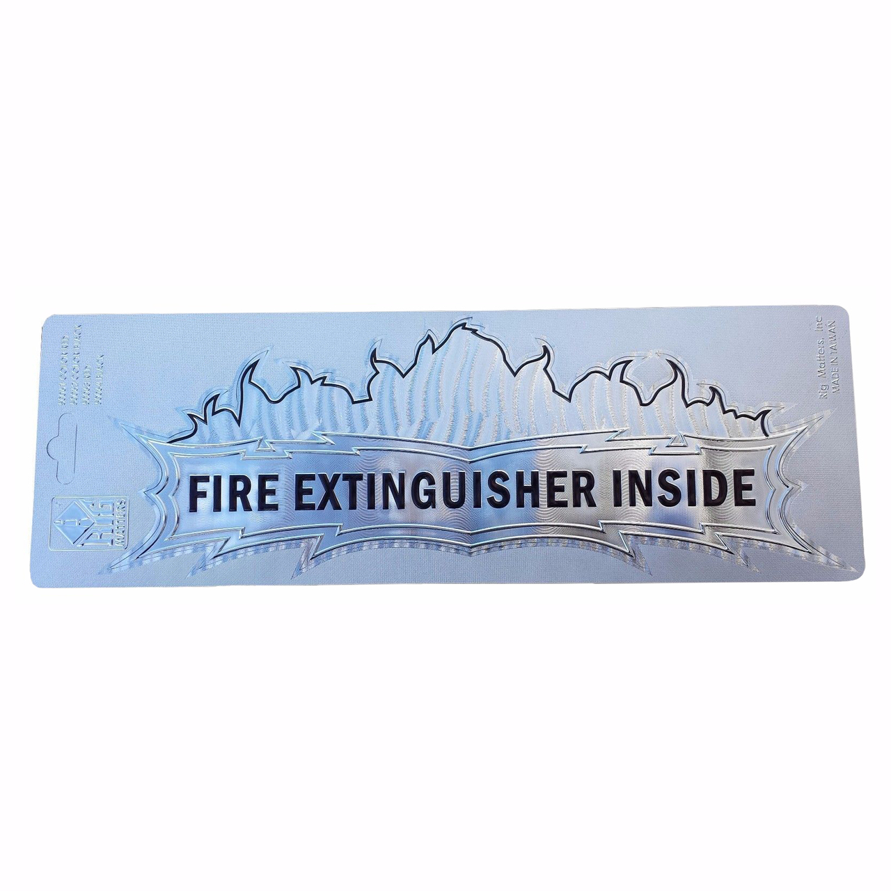 """Fire Extinguisher Inside"" Foil Decal, 3""x10"""