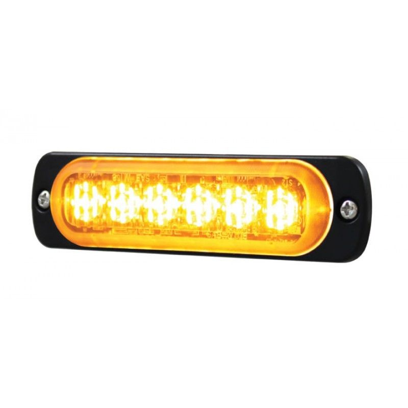 Peterbilt, Kenworth, 6 High Power LED Super Thin Directional Warning Light Amber