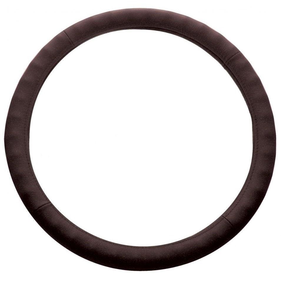 """Steering Wheel Cover, Dark Brown Leather for Peterbilt Kenworth Freightliner, 18"""""""