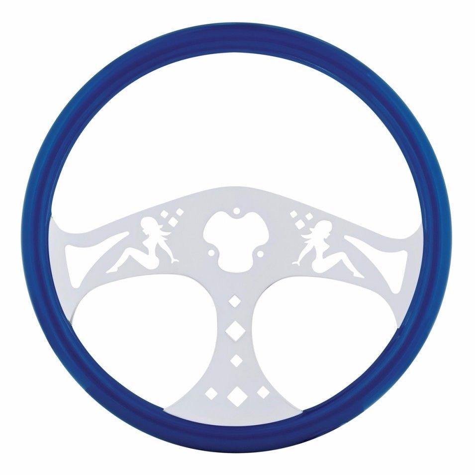 """18"""" Lady Steering Wheel for Peterbilt, Kenworth, Freightliner, International, Blue"""