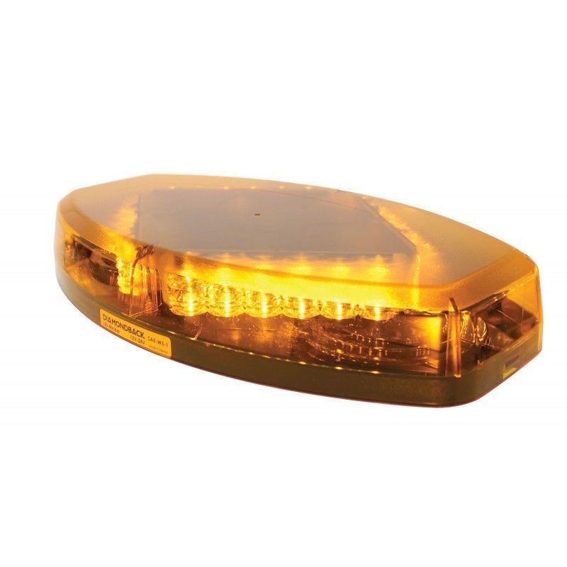 "14"" Long 24 Amber LED Diamond Warning Light Bar"