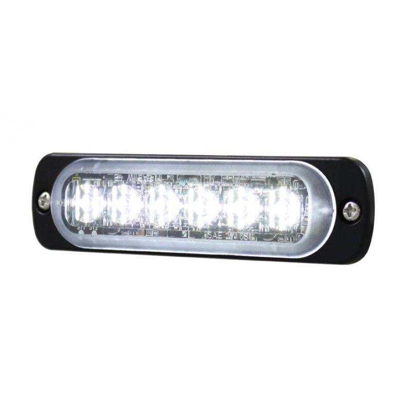 6 High Power LED Super Thin Directional White Warning Light for Peterbilt, Kenworth
