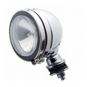 "5"" Round Off Road Halogen Tear Drop Chrome Work Spot Light  / 55 Watt / 12V"
