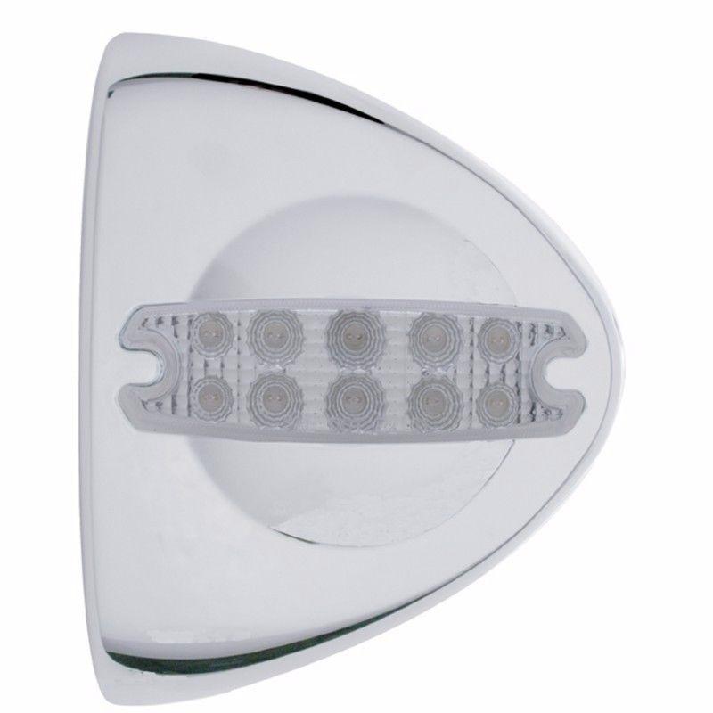 Peterbilt Chrome Headlight Turn Signal Cover Set with LED Marker Lights