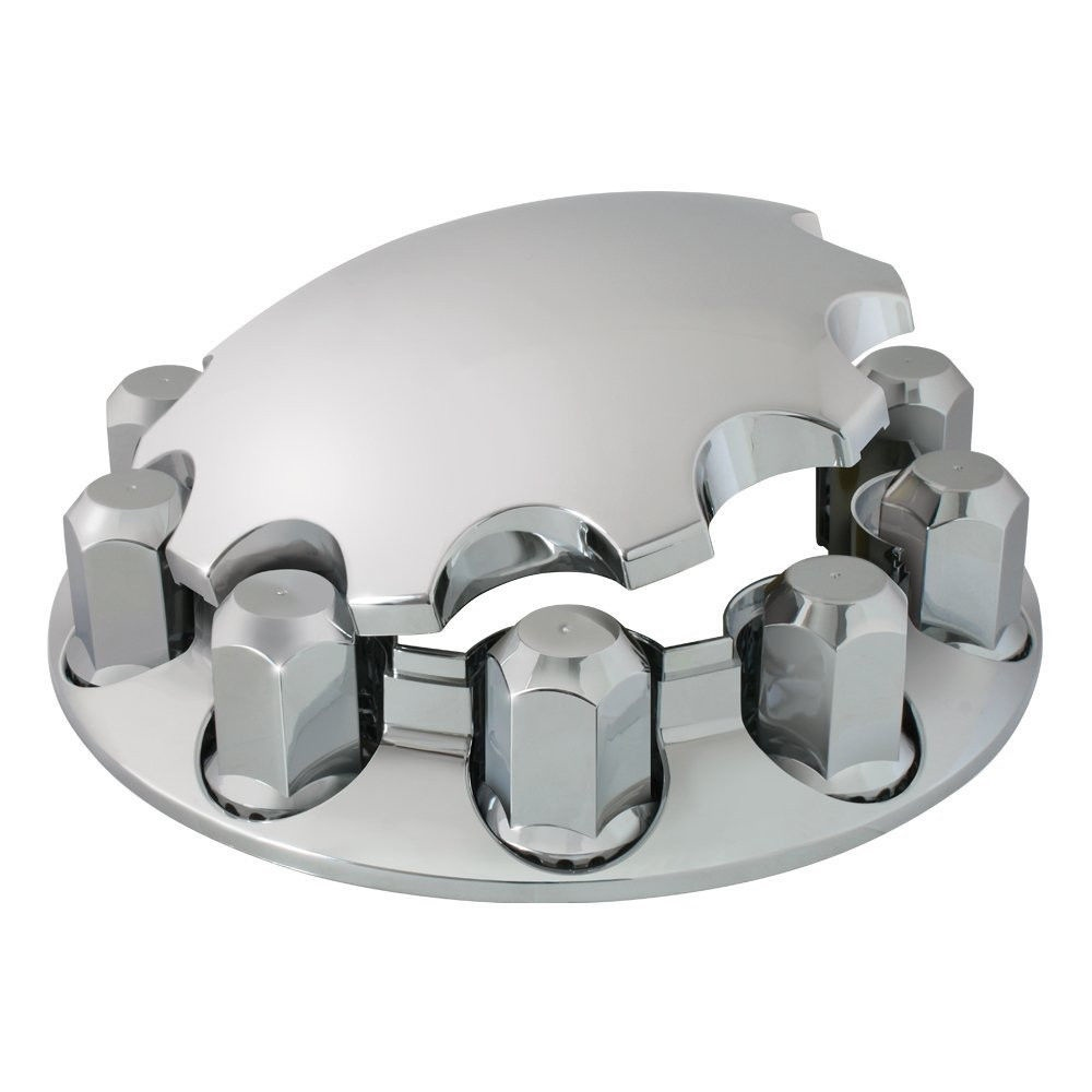 Chrome ABS Front Axle Cover Kit for Peterbilt, Freightliner, Kenworth, 33mm